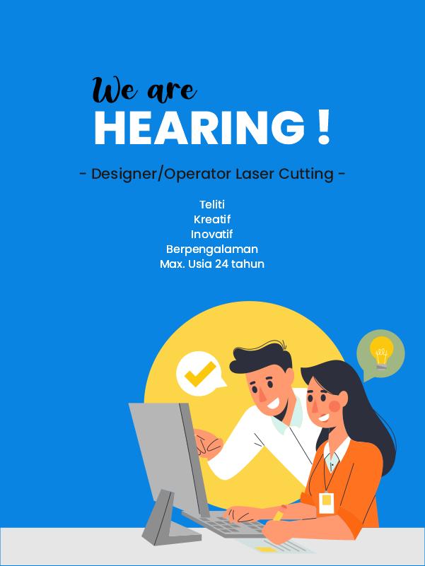 Lowongan Kerja Designer/Operator Laser Cutting 2020